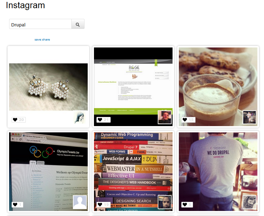 Drupal: Instagram integration | Drupal Developer