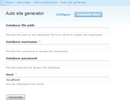 Generate sites Autmatically | Drupal Developer