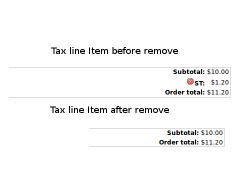 Remove tax line item